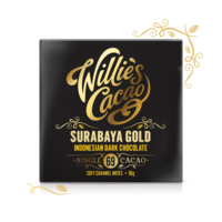 Willie's Cacao Čokoláda Willie's Indonesian Gold, Surabaya Gold hořká 69%, 50g