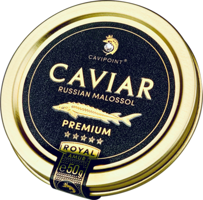 AMUR ROYAL - PREMIUM sturgeon caviar, 50g tin
