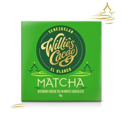 Willie's Cacao Čokoláda Willie's bílá MATCHA, Kotobuki green tea, 50g - 1