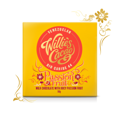 Willie's Cacao Čokoláda  Passion Fruit, mléčná, 50g