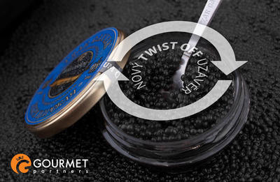 "Gourmet Partners Tzar Delicates ""Beluga Caviar Alternative"" blue - sklenice, 50g - 3"