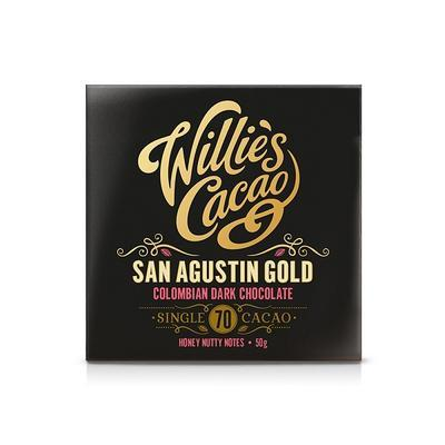 Willie's Cacao Čokoláda Colombian Dark Chocolate, San Agustin Gold 70%, 50g - 3